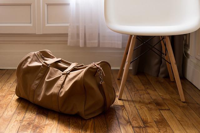 sbalená taška na cesty
